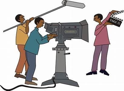 Crew Cartoon Clipart Tv Clip Filming Cliparts