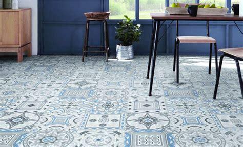 revetement sol cuisine lino les motifs carreaux de ciment font leur grand retour