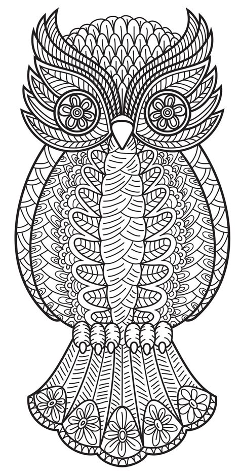 owl  patterns coloring book vol  coloring pages
