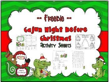 Cajun Night Before Christmas *** Freebie *** By Dawn Melvin Tpt