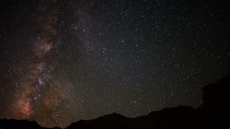 Time Lapse Night Sky Milky Way Galaxy Stock Footage