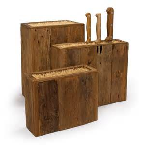 handcrafted kitchen knives reclaimed wood knife holder bambeco