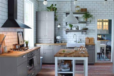 cuisine ton gris îlot central cuisine ikea et autres l 39 espace de cuisson