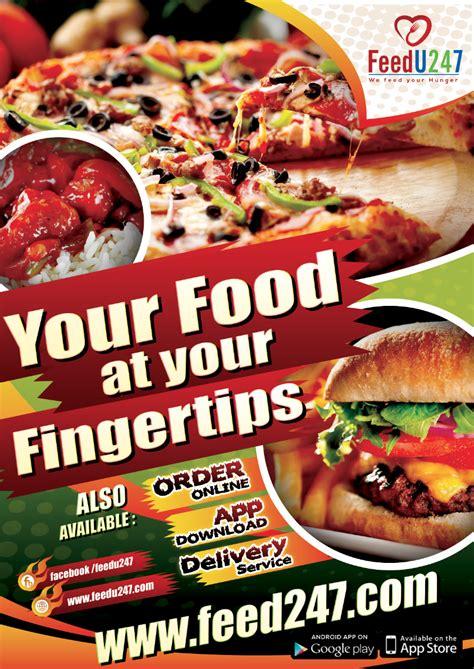 fast food app poster design vive designs