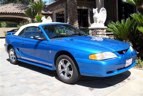 bright atlantic blue  ford mustang convertible
