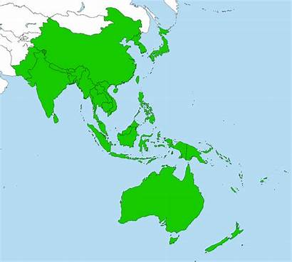 Pacific Asia Map Indo Region Southeast Highlight