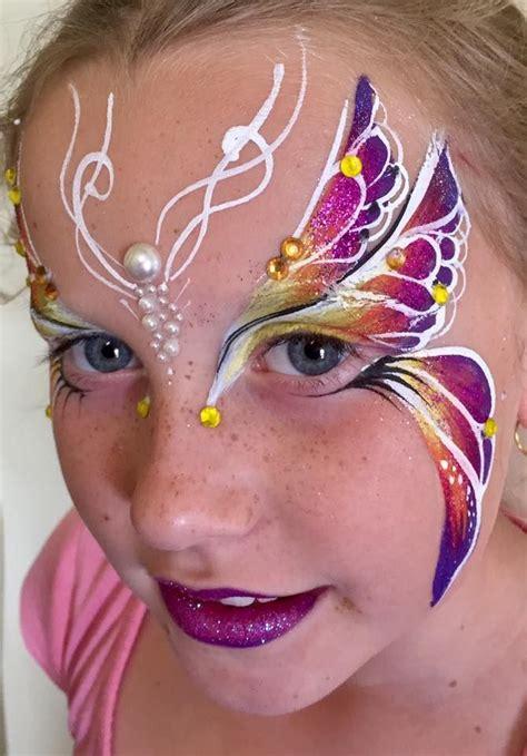 gesichter malen für kinder kinderschminken schmetterling