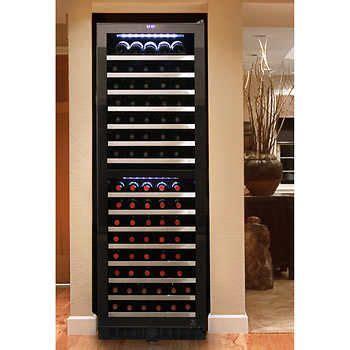 vinotemp  bottle dual zone wine cooler  touch