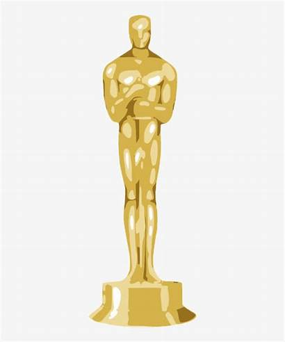 Oscar Statue Oscars Clipart Golden Transparent Clip