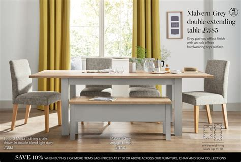 next kitchen furniture buy malvern grey 6 10 seater extending dining table