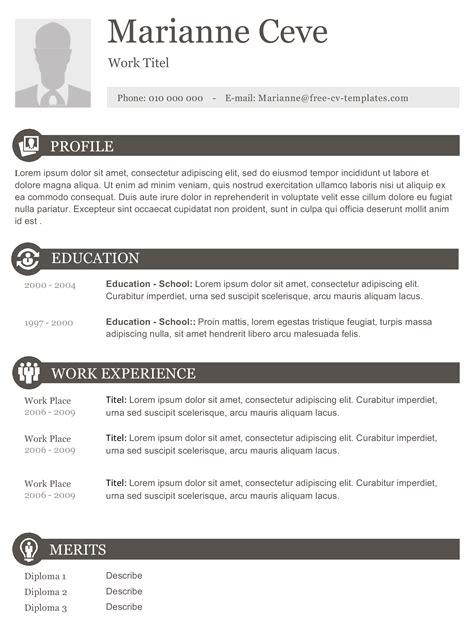 marianne elegant modern  creative resume template