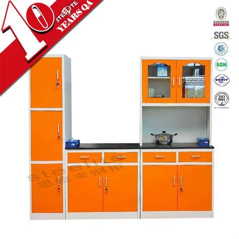 modern high gloss orange kitchen cabinet knock  home