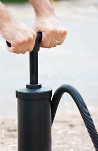 Manual Inflate Mattres Air Pump Stock Image