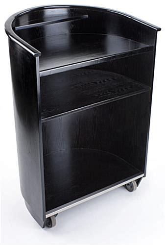 speech podium mobile lectern   shelves  desktop