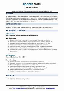 Power System Engineer Resume Ac Technician Resume Samples Qwikresume