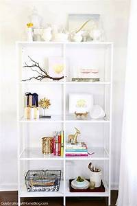 Decorating Shelves in the Dining Room - Celebrations at Home