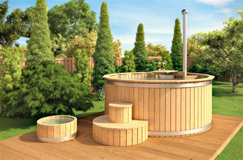 vasca da bagno esterna isidor vasca da bagno in legno calda idromassaggio esterna
