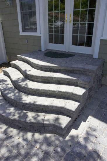 unilock steps installation photos