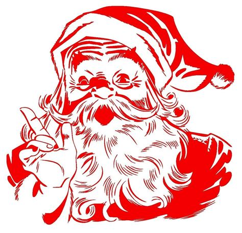 santa claus vinyl decal large car truck