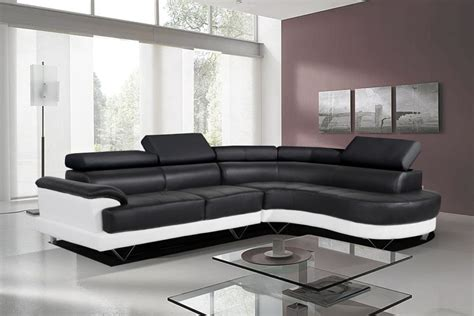 White Leather Sofa And Loveseat by Black And White Leather Sofa Set For A Modern Living Room