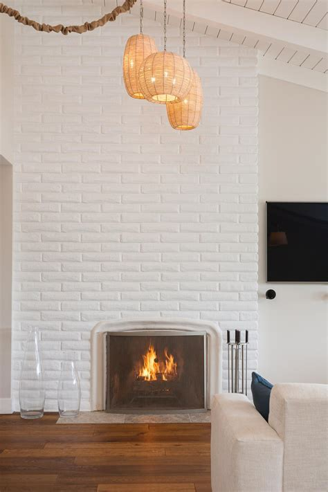 15 Gorgeous Painted Brick Fireplaces   HGTV's Decorating