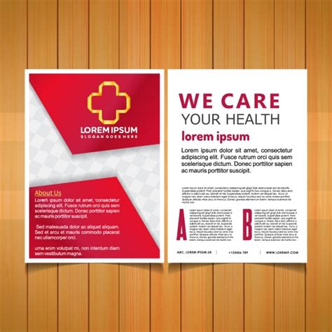 healthcare brochure templates free download medical brochure template vector free download