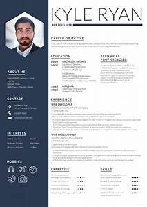 Web Brochure Templates Free Web Developer Resume Cv Template In Photoshop Psd