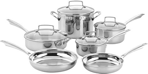electric stove cookware cuisinart stainless steel ply tri pans pots cooktops stovetops