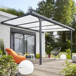 pergola adossee braga aluminium gris anthracite 12 m2 With tente jardin leroy merlin 4 tonnelle aluminium leroy merlin