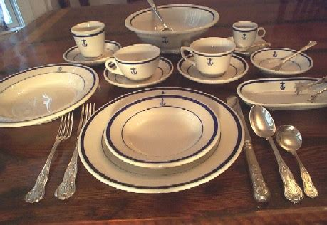 wardroom officer  navy dinnerware nautical antique