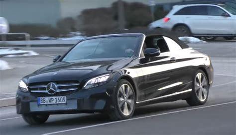 2019 Mercedesbenz Cclass Cabriolet Facelift Reveals Its