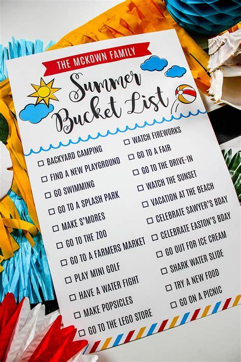 summer bucket list, bucket list, summer, Just Add Confetti ...