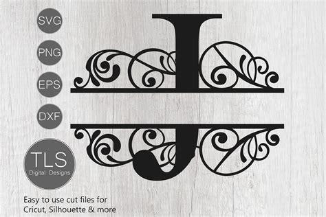 split monogram letter  svg letter  monogram svg letter  cut files design bundles