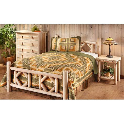 log bedroom sets king castlecreek cedar log bed 297899 bedroom