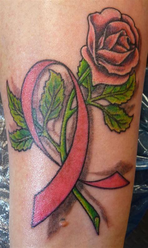 rose  cancer ribbon tattoo creativefan