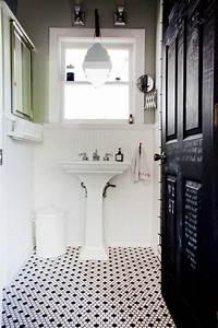 vous cherchez des idees pour un carrelage noir et blanc With sol mosaique salle de bain