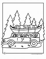 Coloring Pages Camping Camp Trip Road Activities Vacation Sheets Preschool Craft Colouring Summer Theme Template Crafts Princess sketch template
