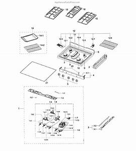 Parts For Samsung Nx58h5600ss  Aa-00  Cook Top Parts