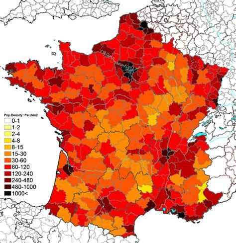 France Population Density Map