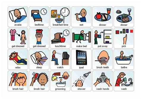 Free Boardmaker Picture Schedules  Boardmaker Home Activities  Communication Pinterest