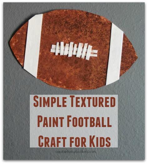 simple textured paint football craft  kids great