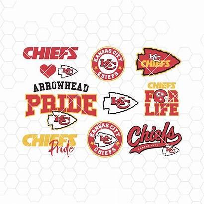 Chiefs Svg Kansas Cricut Clipart Football Cut