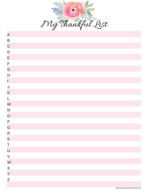 gratitude journal printables  images journal template