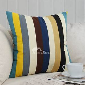 Natural colorful striped couch square cheap throw pillows for Colorful throw pillows cheap
