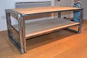 Table Bois Et Fer : table basse design renovee bois et fer ~ Premium-room.com Idées de Décoration