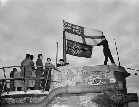 raise the siege seamen raise the white ensign a captured german u