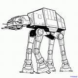 Wars Star Line Drawing Walker Imperial Getdrawings Draw sketch template