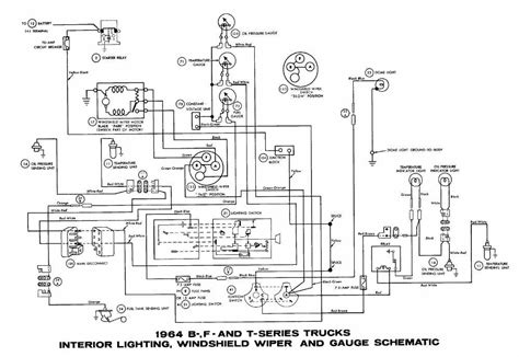 1977 Ford F 150 Ac Wiring Diagram by Ford B F T Series Trucks 1964 Interior Lighting