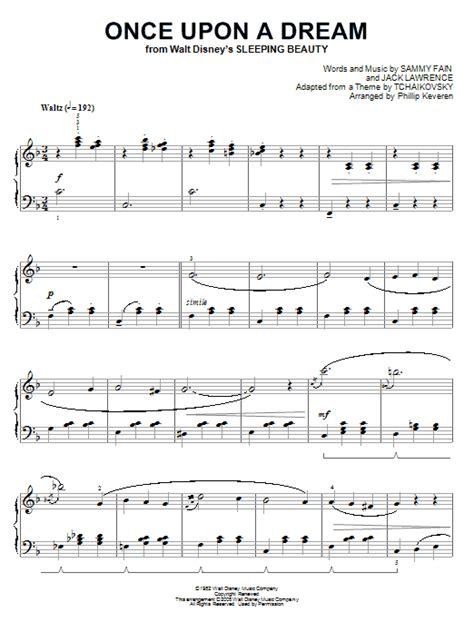 once upon a dream sheet music by sammy fain piano 66987