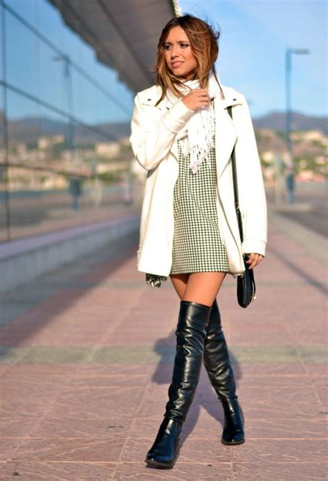 fall  fashionable outfits   knee boots